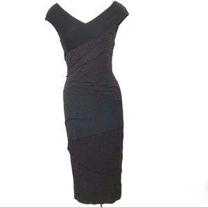 💕 ANTHROPOLOGIE BAILEY 44 poka dot column dress